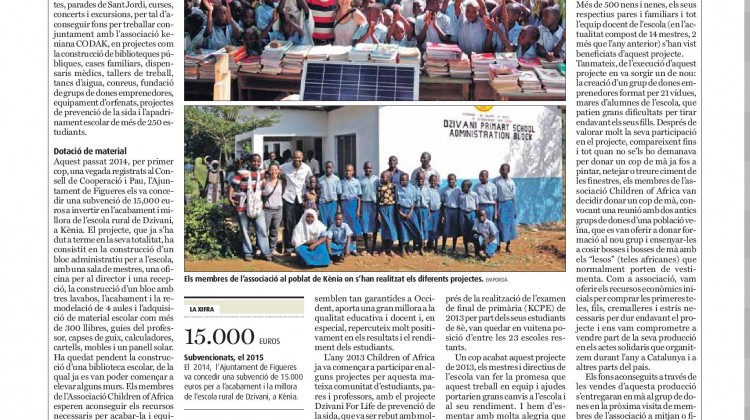 DZIVANI SCHOOL PROJECT IN THE NEWSPAPER